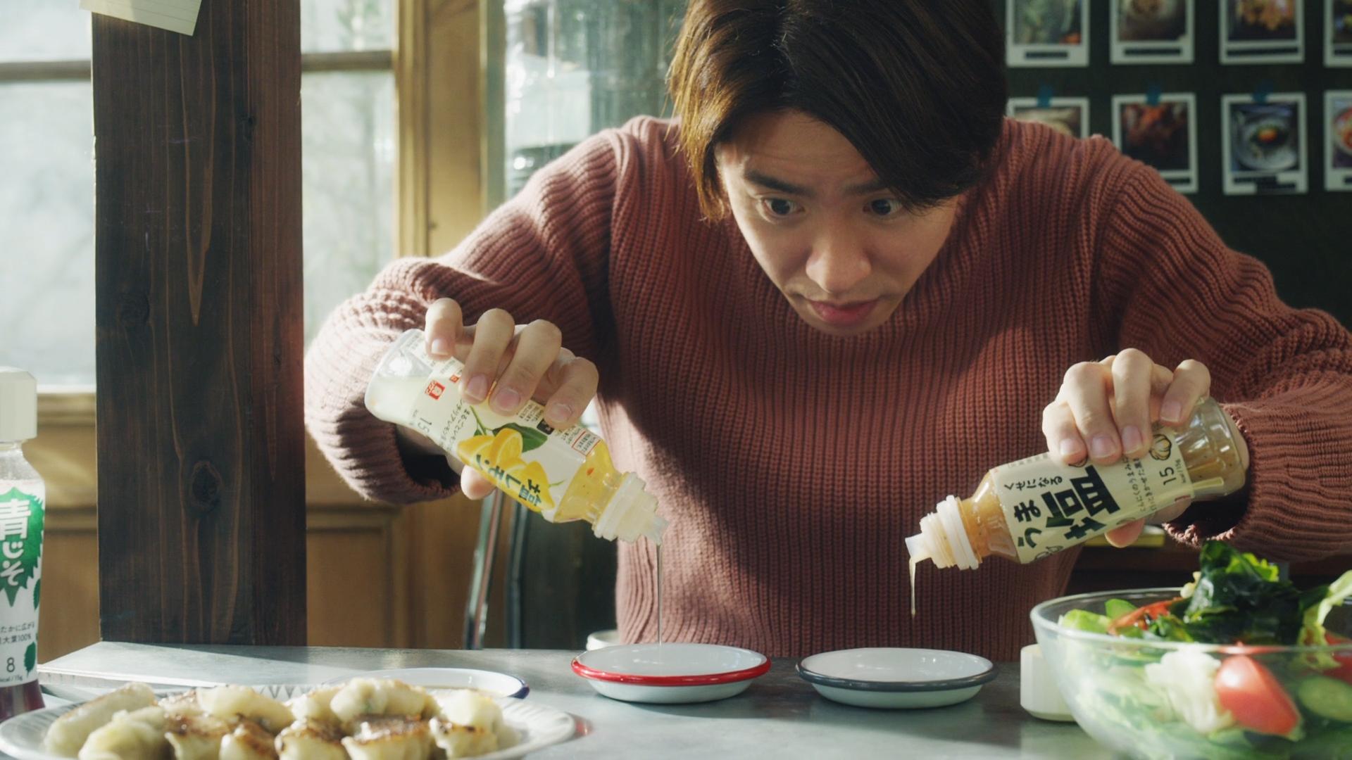 理研ビタミン リケンのノンオイル「サラダも餃子もコレ1本!3種」篇